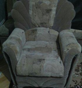 Набор мягкой мебели, угловой диван и кресло