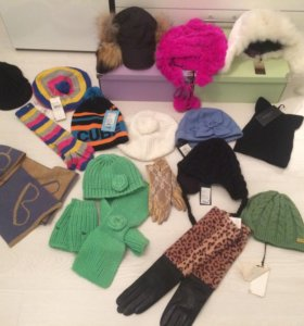 Шапки перчатки шарфы