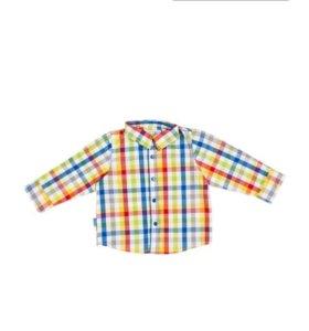 Рубашка с длинным рукавом на мальчика, рост 80