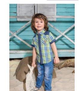 Летняя рубашка для мальчика, рост 86