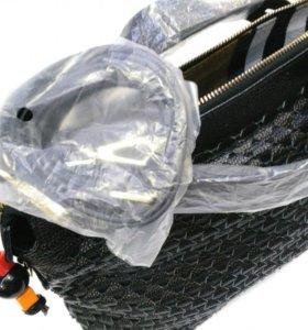 Женская сумка Burberry, чёрная, плетёная натуральн