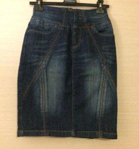 Юбка-карандаш джинсовая Incity. Новая 44-46