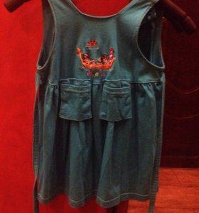 Платье на девочку 4-5 лет размер М