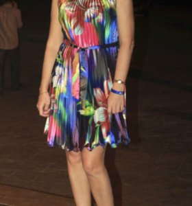 Гофрированное платье,44-46