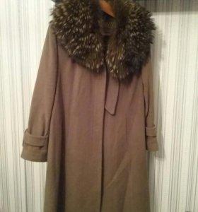Пальто зимнее кашемировое