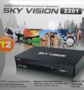 Цифровой приёмник DVB-T2 SKY vision T2201