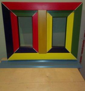 Цветные пластиковые окна и двери.