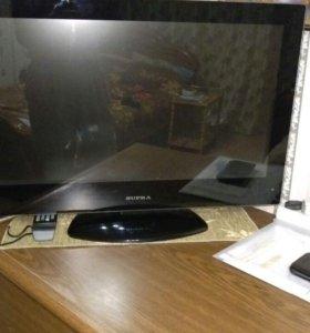 Телевизор Супра с DVD плеером встроенным.Торг.
