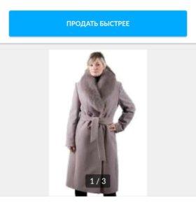 Кашемировое Пальто с мехом из песца