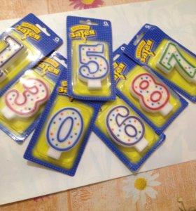 Свечи-цифры для торта