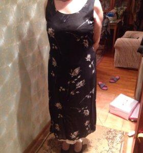 Платье сарафан с шелковым подкладом