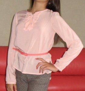 Блузка для девочки школьная 10-13 лет,рост 146