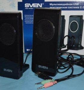 мультимедийная USB акустическая система 2.0 Sven.