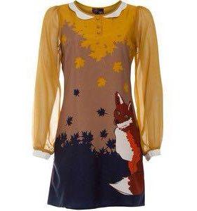 Платье yumi лиса, новое, надето один раз