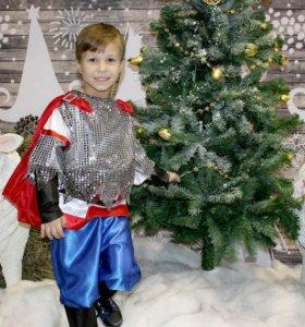 """Новогодний костюм """"богатырь"""""""
