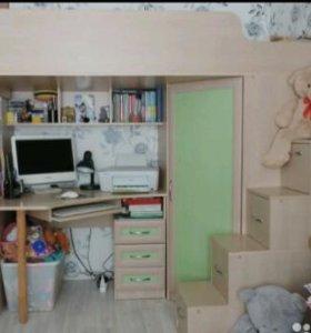 Уголок школьника,кровать чердак,модульная детская