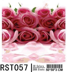 Раскраски по номерам.Триптих Розы