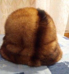 Норковая шапка женская б/у