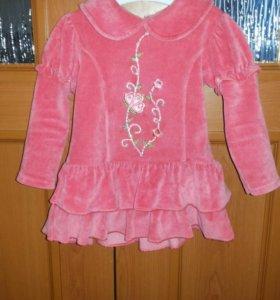 Платье детское теплое 80см.