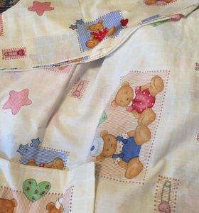 2 набора постельного детского белья и бортики