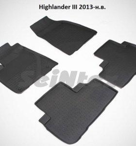 Автоковрики Toyota Highlander 3 2013-н.в