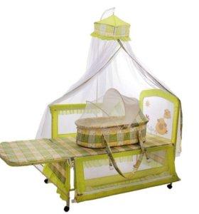 Кроватка - манеж с люлькой и пеленальным столиком