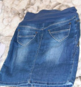 Юбка джинсовая для беременных, 46 р-р