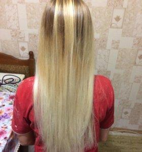 Покраска волос,локоны