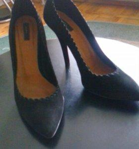 Замшевые туфли (класс.лодочка)