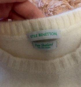 Шерстяной свитер Benetton