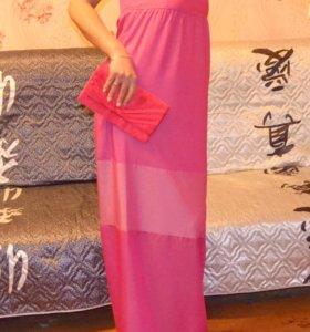 Новое платье в пол с бирками
