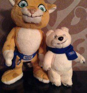 Мягкие игрушки из Сочи, Тигр и Мишка