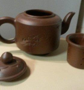 Заварочный чайник глина