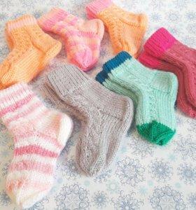 Носочки детские вязаные вручную