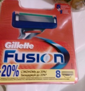 Лезвия Gillette Fusion 8 штук в упаковке