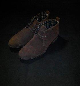 Туфли замшевые мужские. Новые
