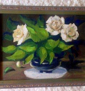 Художественная Картина Белые Розы