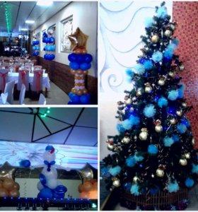 Новогоднее оформление кафе и ресторанов
