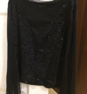 Блузка вечерняя нарядная с паетками