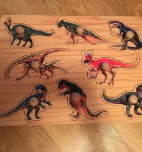 Пазл Динозавры