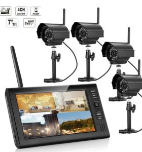 Система видеонаблюдения, 4 камеры+ монитор