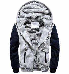 Кофта мужская утепленная с капюшоном