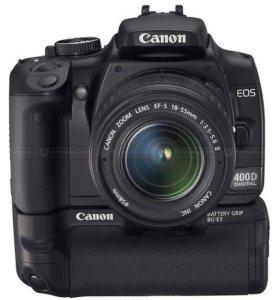Canon 400D + объектив canon 18-55+ батарейный блок