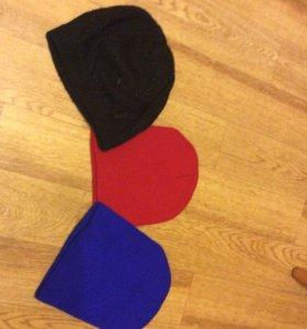 3 шапки сразу