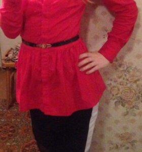 Блузка красная XS