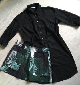 Удлиненная рубашка Marella, размер 42-44 S