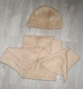 Женская шапка + шарф