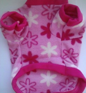 Одежда для собак. Кофточка розовая с цветочками
