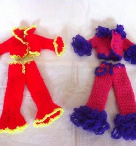 Вязанная одежда для Барби
