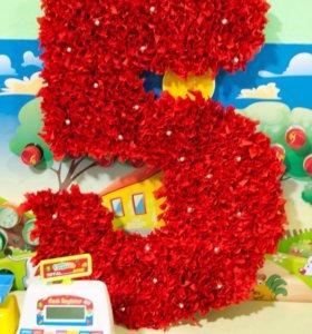 Циферки для декора детского праздника.И не только